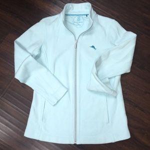 TommyBahama zipfront pale aqua sweater/jacket-S/P